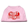 Mirage Pet Products Heart Breaker Screen Print Shirt Light Pink  XL (16)