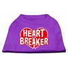 Mirage Pet Products Heart Breaker Screen Print Shirt Purple XL (16)