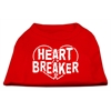 Mirage Pet Products Heart Breaker Screen Print Shirt Red  XL (16)