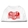 Mirage Pet Products Heart Breaker Screen Print Shirt White XXL (18)