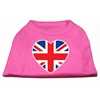 Mirage Pet Products British Flag Heart Screen Print Shirt Bright Pink XXL (18)