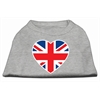Mirage Pet Products British Flag Heart Screen Print Shirt Grey XS (8)