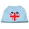Mirage Pet Products British Flag Heart Screen Print Shirt Baby Blue XXL (18)