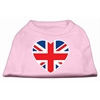 Mirage Pet Products British Flag Heart Screen Print Shirt Light Pink XXL (18)