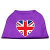 Mirage Pet Products British Flag Heart Screen Print Shirt Purple XS (8)