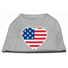 Mirage Pet Products American Flag Heart Screen Print Shirt Grey XS (8)