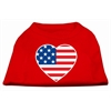 Mirage Pet Products American Flag Heart Screen Print Shirt Red XS (8)