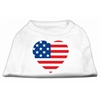 Mirage Pet Products American Flag Heart Screen Print Shirt White XL (16)