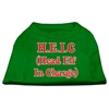 Mirage Pet Products Head Elf in Charge Screen Print Shirt Emerald Green XS (8)
