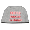 Mirage Pet Products Head Elf In Charge Screen Print Shirt Grey Med (12)