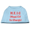 Mirage Pet Products Head Elf In Charge Screen Print Shirt Baby Blue XL (16)