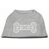 Mirage Pet Products Henna Bone Screen Print Shirt Grey XS (8)