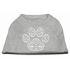 Mirage Pet Products Henna Paw Screen Print Shirt Grey Lg (14)