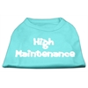 Mirage Pet Products High Maintenance Screen Print Shirts  Aqua XL (16)
