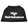 Mirage Pet Products High Maintenance Screen Print Shirts  Black XXL (18)