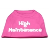 Mirage Pet Products High Maintenance Screen Print Shirts  Bright Pink L (14)