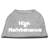 Mirage Pet Products High Maintenance Screen Print Shirts  Grey XL (16)
