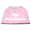 Mirage Pet Products High Maintenance Screen Print Shirts  Light Pink XXL (18)