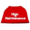 Mirage Pet Products High Maintenance Screen Print Shirts  Red XS (8)