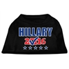 Mirage Pet Products Hillary Checkbox Election Screenprint Shirts Black XS (8)