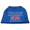 Mirage Pet Products Hillary Checkbox Election Screenprint Shirts Blue XS (8)