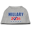 Mirage Pet Products Hillary Checkbox Election Screenprint Shirts Grey XS (8)