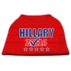 Mirage Pet Products Hillary Checkbox Election Screenprint Shirts Red XS (8)
