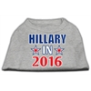 Mirage Pet Products Hillary in 2016 Election Screenprint Shirts Grey XXXL (20)