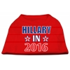 Mirage Pet Products Hillary in 2016 Election Screenprint Shirts Red XXXL (20)