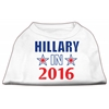 Mirage Pet Products Hillary in 2016 Election Screenprint Shirts White XXL (18)
