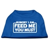 Mirage Pet Products Hungry I Am Screen Print Shirt Blue Lg (14)