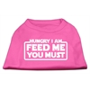 Mirage Pet Products Hungry I am Screen Print Shirt Bright Pink XL (16)