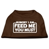 Mirage Pet Products Hungry I Am Screen Print Shirt Brown Lg (14)