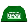 Mirage Pet Products Hungry I Am Screen Print Shirt Emerald Green Lg (14)