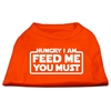 Mirage Pet Products Hungry I Am Screen Print Shirt Orange Lg (14)