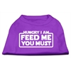 Mirage Pet Products Hungry I am Screen Print Shirt Purple Lg (14)