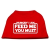 Mirage Pet Products Hungry I am Screen Print Shirt Red XL (16)