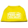 Mirage Pet Products Hungry I Am Screen Print Shirt Yellow XXXL (20)