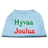 Mirage Pet Products Hyvaa Joulua Screen Print Shirt Baby Blue XXXL(20)