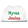 Mirage Pet Products Hyvaa Joulua Screen Print Shirt White XXXL(20)