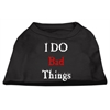 Mirage Pet Products I Do Bad Things Screen Print Shirts Black XS (8)