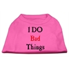 Mirage Pet Products I Do Bad Things Screen Print Shirts Bright Pink XS (8)