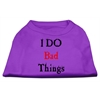 Mirage Pet Products I Do Bad Things Screen Print Shirts Purple S (10)