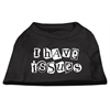 Mirage Pet Products I Have Issues Screen Printed Dog Shirt  Black  XS (8)