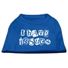 Mirage Pet Products I Have Issues Screen Printed Dog Shirt Blue XS (8)