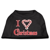 Mirage Pet Products I Heart Christmas Screen Print Shirt  Black  XXL (18)