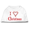 Mirage Pet Products I Heart Christmas Screen Print Shirt  White XL (16)
