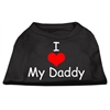 Mirage Pet Products I Love My Daddy Screen Print Shirts Black  XS (8)