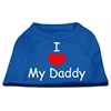 Mirage Pet Products I Love My Daddy Screen Print Shirts Blue XS (8)
