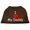 Mirage Pet Products I Love My Daddy Screen Print Shirts Brown XS (8)